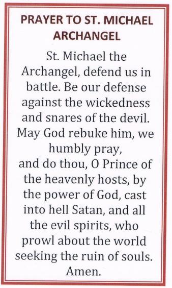 StMichael Prayer Card