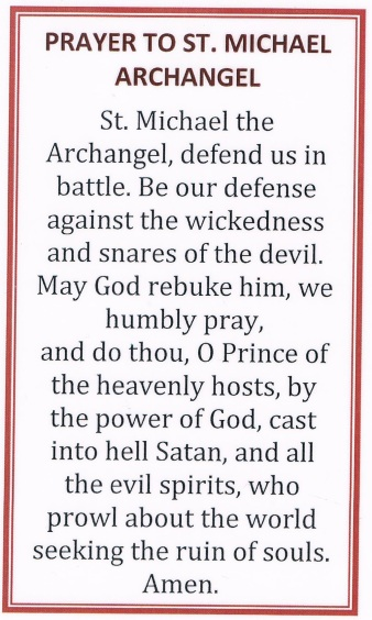 StMichael Prayer Card